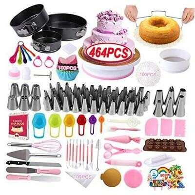 £44.70 • Buy Cake Decorating Supplies Kit, 464 Pcs With Non-Slip Cake Turntable And