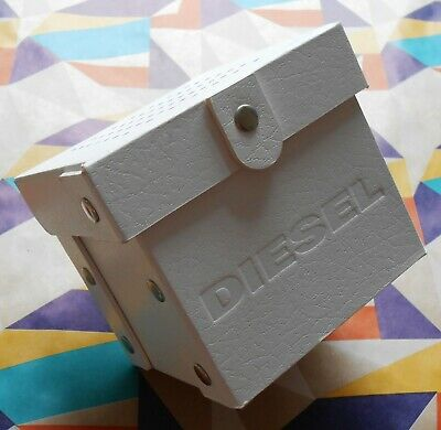 £14.95 • Buy DIESEL ~ White Watch Box/Case ~ Empty But With Pillow & Booklet ~ Free Postage