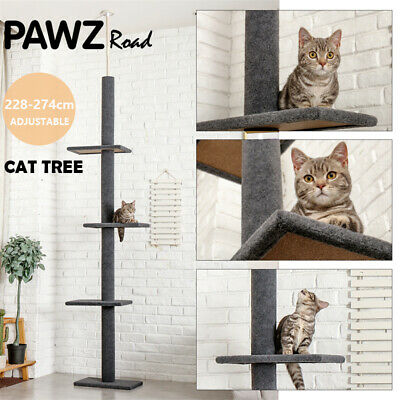 AU58.99 • Buy PAWZ Road Cat Tree Scratching Post Tower Furniture Pet Kitten Play Activity Bed