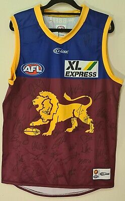AU200 • Buy Signed Brisbane Lions AFL 2020 Guernsey Jersey Large Brand New With Tags