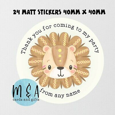 £1.50 • Buy Lion Birthday Party Stickers , Baby Shower , Naming Day , Christening Ma270