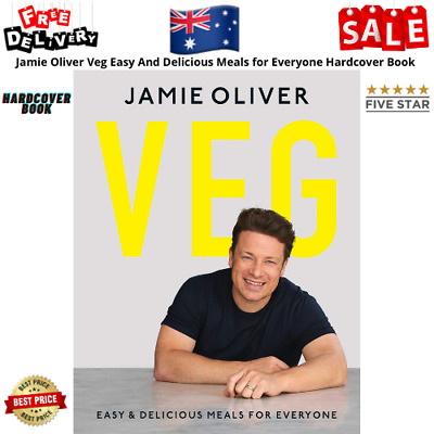 AU28.99 • Buy Jamie Oliver Veg Easy And Delicious Meals For Everyone Hardcover Book NEW