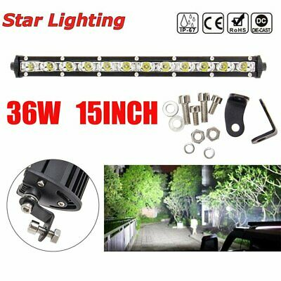 AU34.99 • Buy 13inch 36W LED Light Bar Spot Flood Combo Work SUV Boat Driving Offroad ATV 4WD