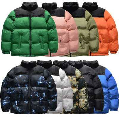 Winter Parkas Coats Casual Men's Stand Collar Pocket Warm Down Puffer Jackets • 7.67£