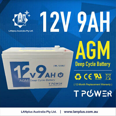 AU29.99 • Buy 12V 9AH SLA AGM Battery 60CCA Uninterruptible Power Supplies Alam System 7AH