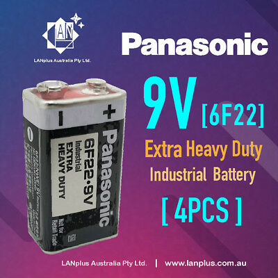 AU10.25 • Buy 4x Panasonic 9V 6F22 Extra Heavy Duty Batteries Bulk Wholesale Lot Smoke Alarm