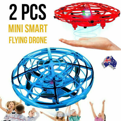 AU22.90 • Buy 2x Kids Mini Smart Flying Drone Hand Motion Control UFO Aircraft Toy BLUE & Red