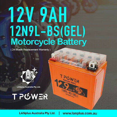 AU44.59 • Buy 12V 9AH 12N9L-BS Gel Motorcycle Battery Dirt Bike ATV Quad Scooter Gokart Mower