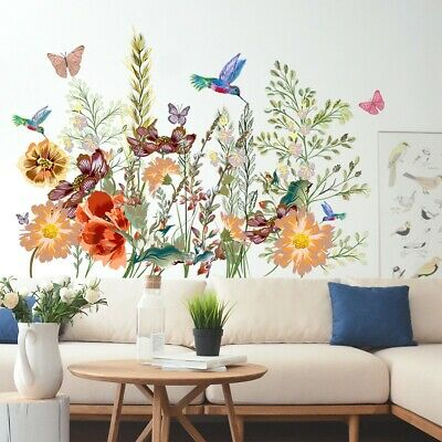 £6.26 • Buy Butterfly Flower Floral Transfer Wall Art Sticker Decal Home Decor Removable