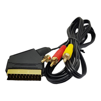 £3.29 • Buy 1.5m Scart To RCA Triple Phono Cable Composite Audio Video Lead Red White Yellow