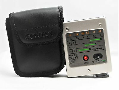 $ CDN84.63 • Buy [Near MINT Tested ] Contax TLA140 Shoe Mount Flash W/ Case For G1 G2 From JAPAN