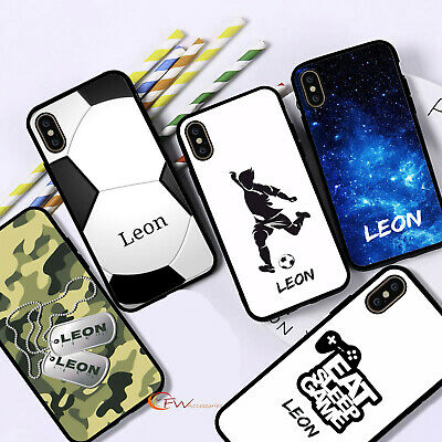 £5.90 • Buy Personalised Name Phone Case Black Boys Cover For IPhone 12 11 8 7 MAX XR X XS