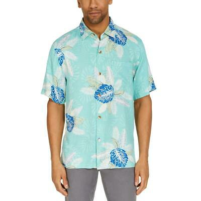 $28.79 • Buy Tommy Bahama Mens Floral Print Button Down Collared Casual Shirt BHFO 0930