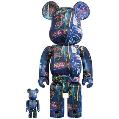 $250 • Buy < Sealed New > BE@RBRICK  JEAN-MICHEL BASQUIAT #7  100% & 400%