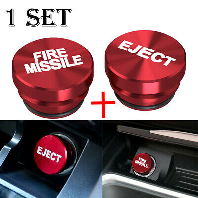 $ CDN19.80 • Buy 2X Universal Fire Missile Eject Button Cigarette Lighter Cover 12V Accessories