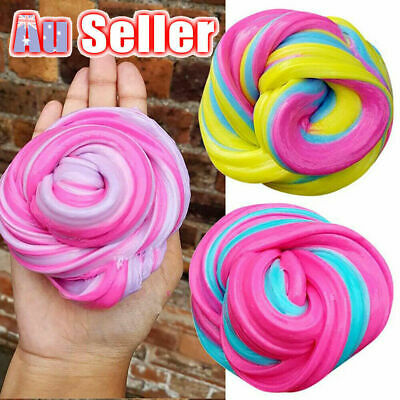 AU9.28 • Buy Colorful Fluffy Strechy Slimes Rainbow Unicorn Floam Slime Stress Relief Toys