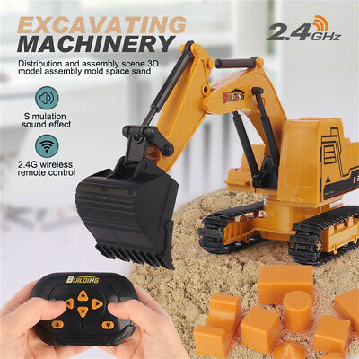 Remote Control Digger Children Kids Toy Excavator Truck Controlled RC Gift • 14.88£
