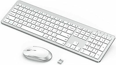 Wireless Keyboard & Mouse Rechargeable Full-Size For Windows Laptop/PC/Computer • 25.98£