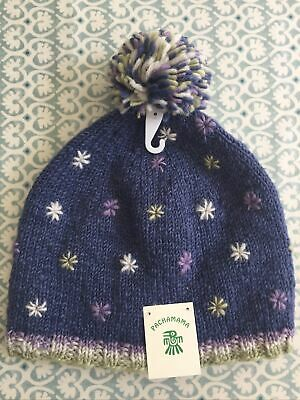 BNWT Pachamama Wool Hand Knit Snow In Summer Beanie Bobble Hat Lined OSFA £19.50 • 6.99£