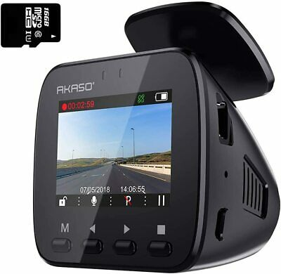 Wifi Dash Cam With GPS, 1296P Full HD 16GB Memory Card Included Phone App 170°  • 24£