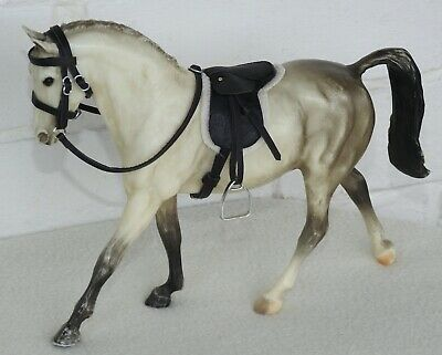 £22 • Buy Handmade Black Leather Saddle Bridle 1:12 Scale Classic Breyer Horse Not Incl.
