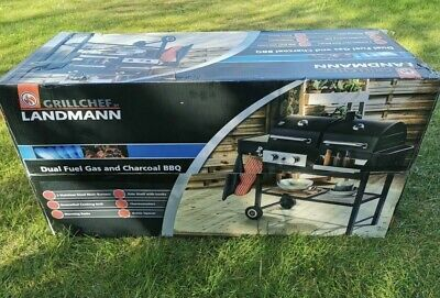 £370 • Buy LANDMANN Grill Chef Dual Fuel Gas And Charcoal BBQ
