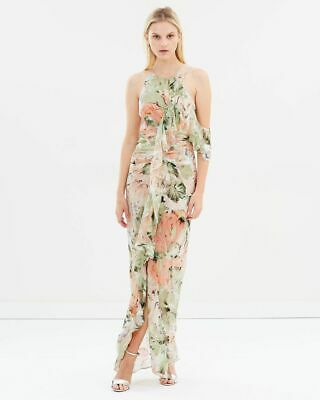 AU169 • Buy Alice McCall 'Dream Girl' Pastel Floral Metallic Gown Size 6 RRP $735