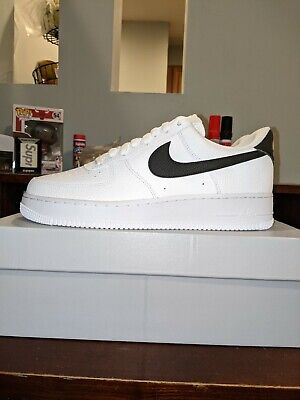 AU154.82 • Buy Nike Men's Air Force 1 '07 White Black Pebbled Leather DS Size 11.5 CT2302-100