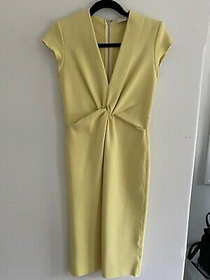 AU220 • Buy Scanlan Theodore Size 8 Yellow Dress - Brand New Without Tags