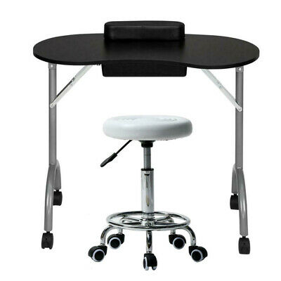 £69.99 • Buy Portable Nail Manicure Table Desk Swivel Stool Set With Cushion Carry Bag Drawer