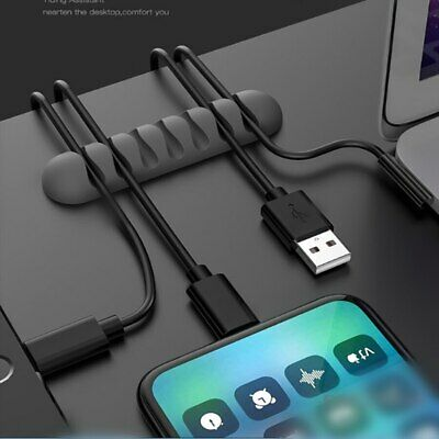 Cable Clips, Ties, Charger Wire Holder Tidy Management, Lead Desk USB Organizer • 1.99£