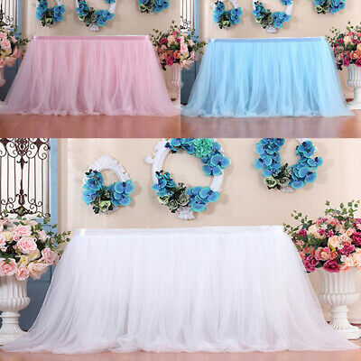 £12.29 • Buy Tutu Tulle Table Skirt Fluffy Table Cloth Cover For Wedding/Birthday/Party Decor