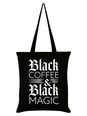 £6.95 • Buy Black Coffee And Black Magic Tote Bag -& Witch Pagan Wicca Goth Alt Emo Shopping