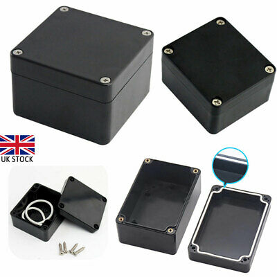 £5.73 • Buy ABS Plastic Electronics Project Box Enclosure Hobby Case With Screws Black New