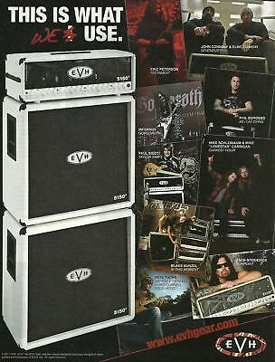 AU5.72 • Buy EVH 5150 Guitar Amps 8 X 11 Ad Sevendust Testament As I Lay Dying Darkest Hour