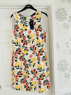 AU17.89 • Buy Marks And Spencer Size 14 Floral Linen Blend Sleeveless Dress