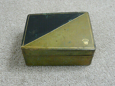 $ CDN69.86 • Buy Vintage Early Rare Rolex Triangle Angled Top Green & Black Wristwatch Box
