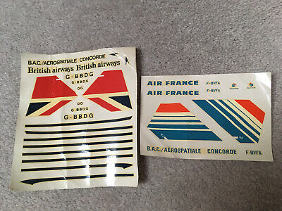 £11.95 • Buy Airfix 1:144 1970's Model Concorde British Airways & Air France Decal Transfers