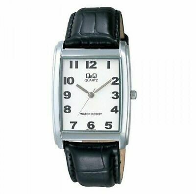$ CDN15.12 • Buy Citizen Q&q $115 Mens Classic Square Silver Black Leather Strap Watch M144j005y