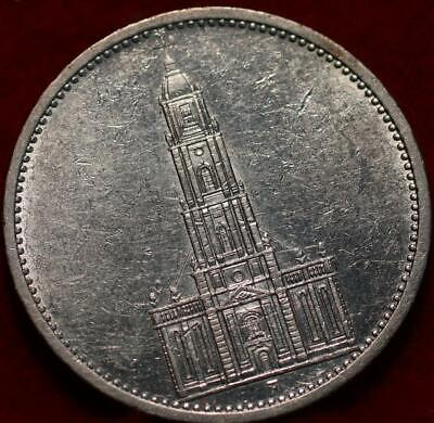 AU6.04 • Buy 1934A Germany 5 Reichsmark Silver Foreign Coin