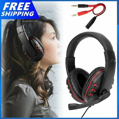 AU14.49 • Buy Durable Stereo Gaming Headset Headphone Wired With Mic For PC Xbox One For PS4
