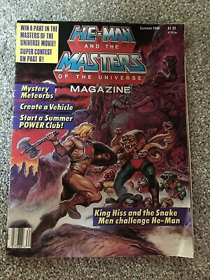 $20 • Buy Vintage He-Man And The Masters Of The Universe Magazine Summer 1986  Vol 2 No 3