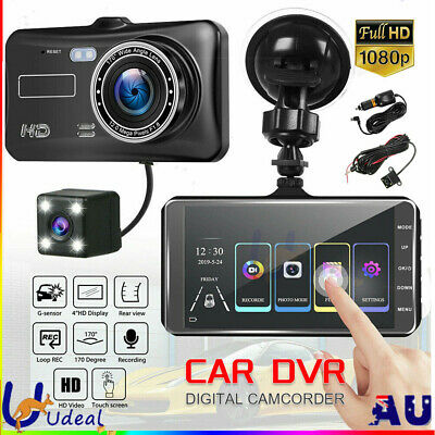 AU48.95 • Buy Car Dash Camera Touch Night Vision Video DVR Recorder Front And Rear Dual Cam OZ