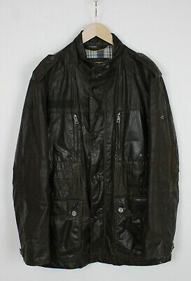 CAMEL ACTIVE Men's ~LARGE* Brown Aged Look Wash Out Effect Jacket 36410-GS • 31.49£