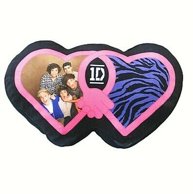 £8.49 • Buy 1D One Direction Pink Pillow 21  X 12  Heart Shaped Throw Accent Teen Room Decor