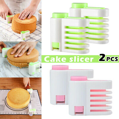 £3.99 • Buy 2pcs Adjustable Even Cake Slicing Levellers Bread Level Cutting Guides DIY Tools