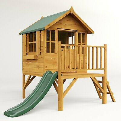 £625 • Buy BillyOh Bunny Max Tower Wooden Playhouse Garden Wendyhouse Inc Plastic Slide 4x4