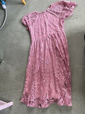AU26.82 • Buy Pink Lace Maternity Dress Asos Size 10