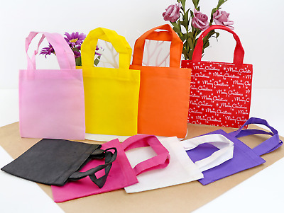 £6.99 • Buy 12PCS 16x25cm Party Gift Bags Favor Non-woven Treat Bags With Handles Reusable