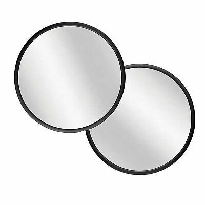 £91.64 • Buy Infinity Instruments Nera 22  Round Hanging Wall Mirror, Black Frame (2 Pack)